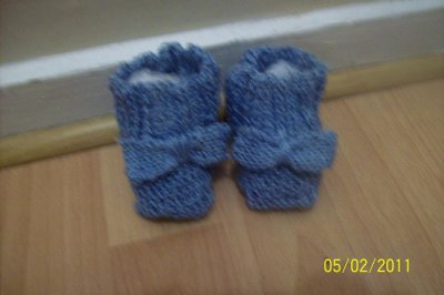 """Chaussons """"noeud noeud"""" de ma collection"""" p'tits bouts"""""""