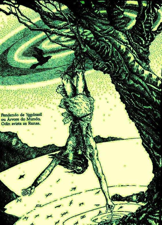 Du 16 au 25 août: Auto-initiation du dieu ODIN, qui, pendu à l'arbre cosmique Yggdrasil, invente les Runes.