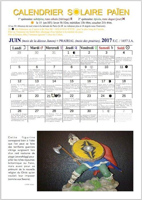 Calendrier solaire païen 2017
