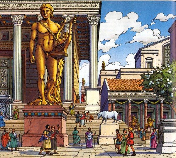 9 octobre: À Rome fête d'APOLLON PALATIN