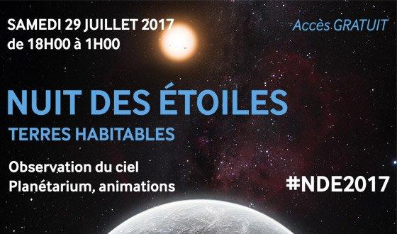 NUIT DES ETOILES le 29 juillet 2017 au Musée de l'Air & de l'Espace (de 18h à 1h)