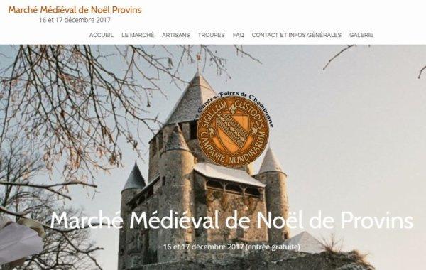 16-17 décembre 2017 à Provins (77): Marché de Noël médiéval
