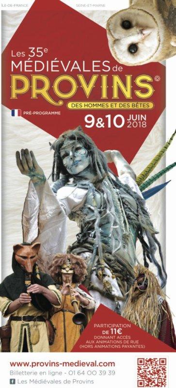 Samedi 9 juin et soldi 10 juin 2018: Fête médiévale de Provins