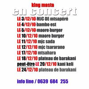 king masta en concert