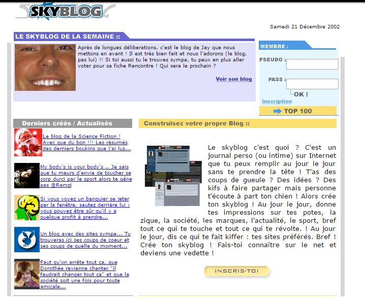 Rétro: Skyblog