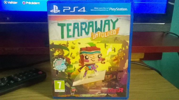 Mes achats:  Tearaway unfolded (PS4)
