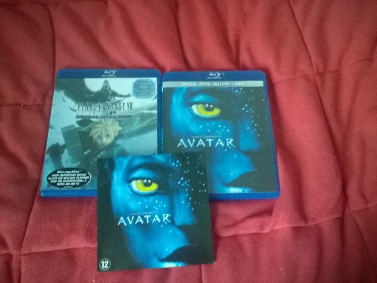 Achats: Avatar (inclus DVD) + Final Fantasy VII Blu Ray