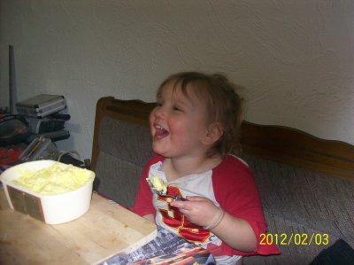 papa a fait plein de pudding hummmmmm