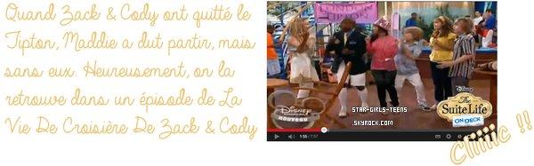 Article pour un concours : Maddie Fitzapatrick de La Vie De Palace De Zack & Cody