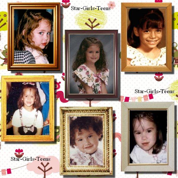 Les stars quand elles étaient enfants