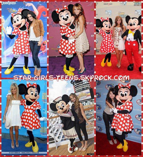 Les stars Disney et Minnie