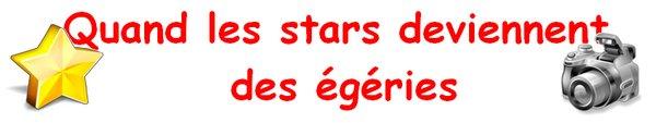 Quand les stars deviennent des égéries
