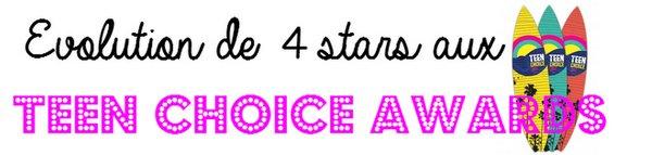 Evolution de 4 stars aux Teen Choice Awards