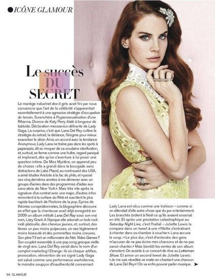 Lana Del Rey Glamour Mai 2012