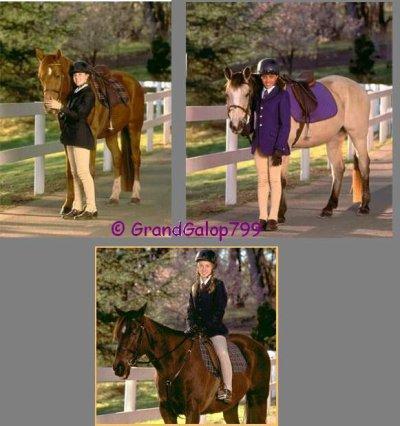 Montage des filles et de leurs chevaux ^^