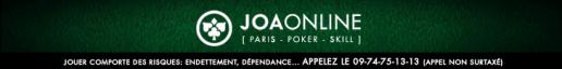 la derniere salle de poker JOAPOKER