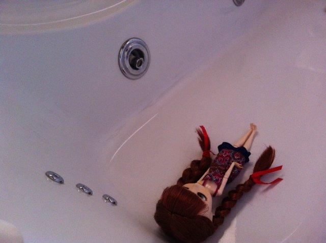 Séance dans la salle de bain ^^