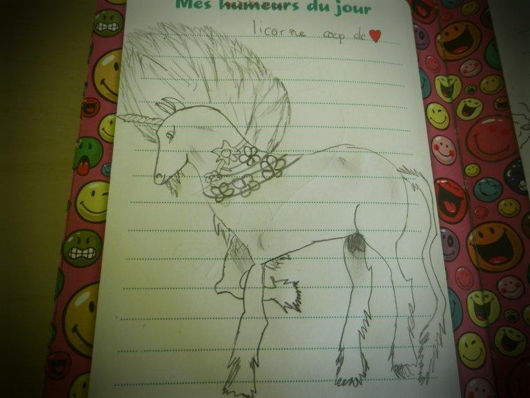 Dessin D'une Licorne Fait Par Moi :)