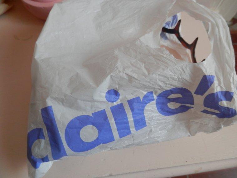 Mes achats chez Claire's