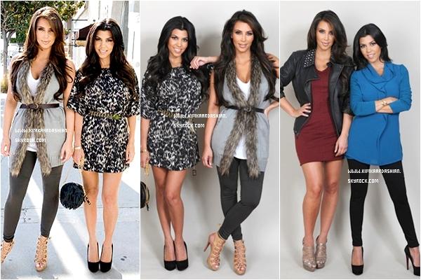 * Kim & sa soeur Kourtney portant la nouvelle collection K-Dash qui sera lancée le 10 septembre 2010.  Vous en pensez quoi ?   *