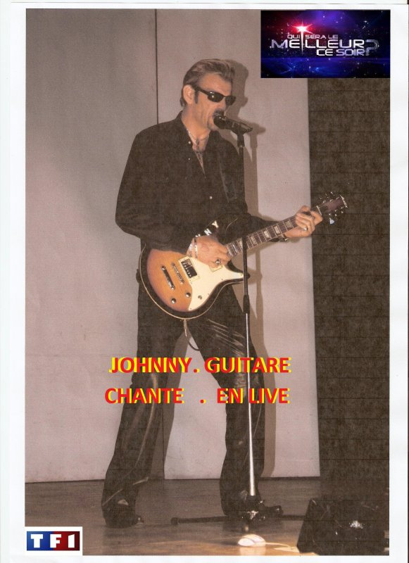 johnny guitare chante en live