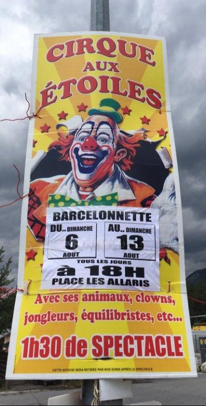 Le cirque aux étoiles est à Barcelonette !