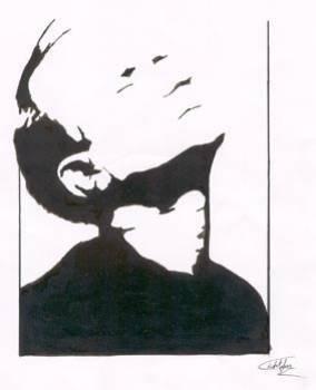 Portrait classique ( technique mixte sur papier)