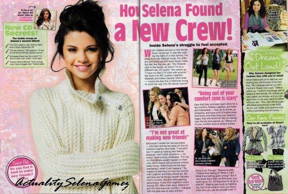 """Voici Sel' dans le magazine Twist Magazine où l'on parle de Monte Carlo et de son amitié avec Leighton et Katie. Il y a aussi un petit point sur sa ligne de vêtements """"Dream Out Loud"""""""