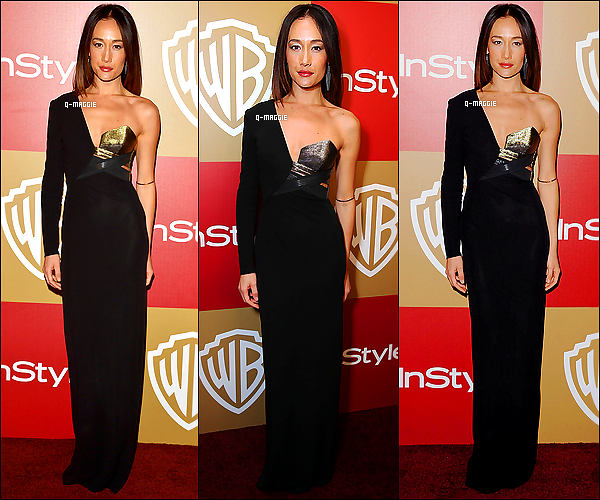 13/01/13 : Notre sublime Maggie était à la soirée « InStyle And Warner Bros Golden Globe Party » à L.A.
