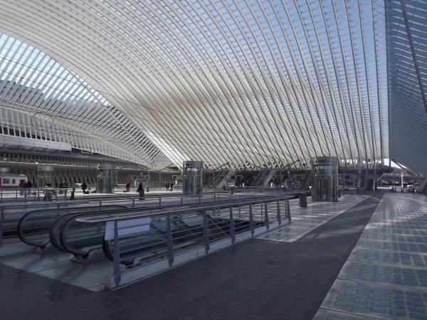 Liège - la gare des Guillemins.