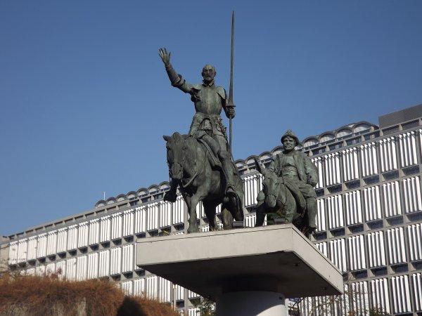 Don Quichotte et son valet Pança.