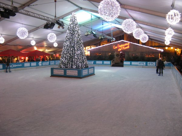 Liège - The Christmas skating rink.