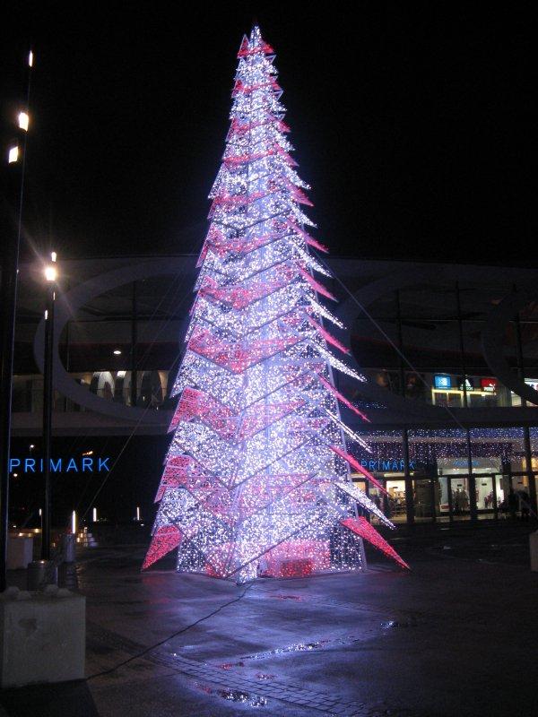 Illumination sapin de Noël - Liège.