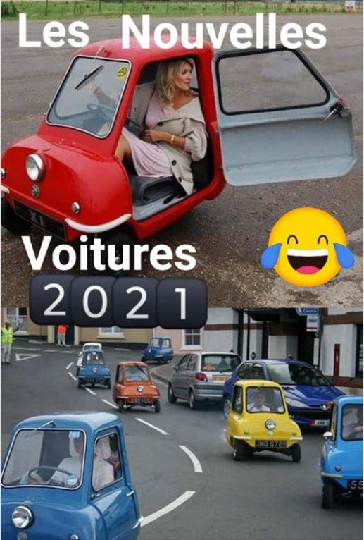 Nouvelles voitures en 2021.