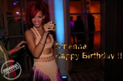 Rihanna happy birthday !!!!