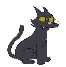 Les personnages: Le chat des Simpson; Boule de Neige 2