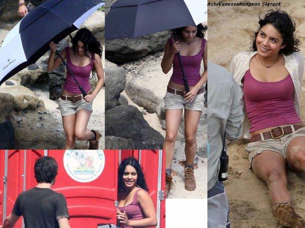 """12 Novembre 2010      ActuVanessaHudgens   """"  Vanessa travaille toujours le tournage de Journey 2 : The Mysterious Island, toujours à Hawaii. Cette scène se déroule sur la plage """""""
