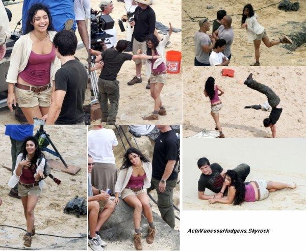 """13 Novembre 2010      ActuVanessaHudgens   """"  Voicii quelques nouveau  stills du film Beastly  .Le tournage de Journey 2 continue de plus belle pour Vanessa et le cast du film qui ont été vu filmant une scène à Hawaii mercredi après-midi (10/11). Vu les grimaces qu'elle faisait, Vanessa avait l'air de bien s'amuser ! """""""