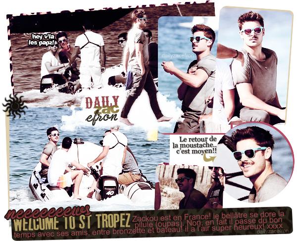 07/04 | Zacky est en vacances à St Tropez! la tenue est sans extravagance.. p'tit top.