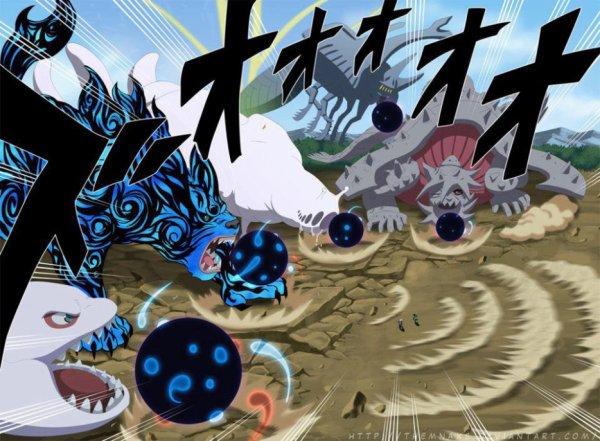 les  cinq bijuu passe a l'attaque