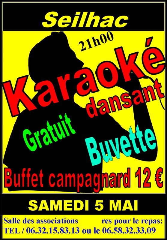 GRAND KARAOKE & BUFFET CAMPAGNARD A SEILHAC le 05 MAI 2012