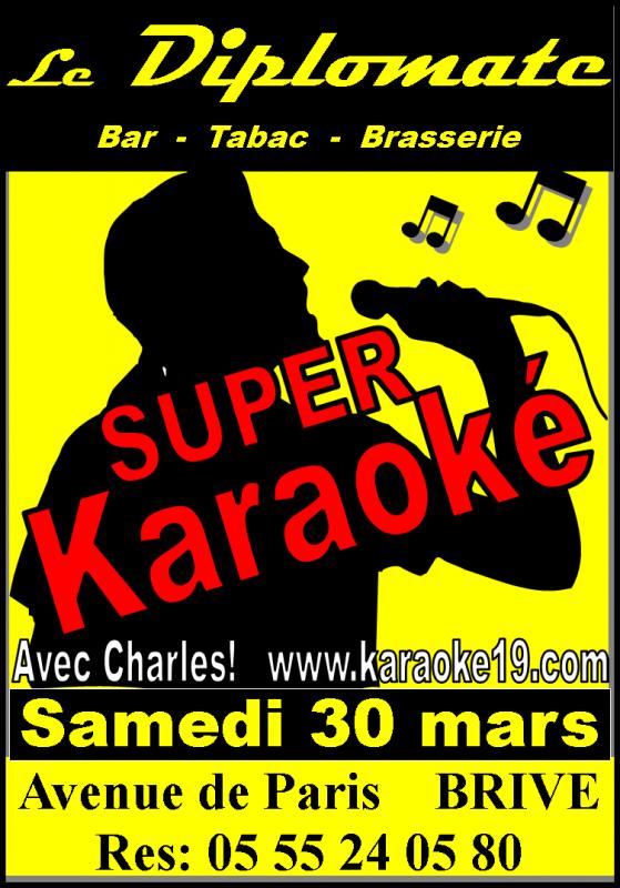 Super Karaoké a Brive le Samedi 30/03/2013