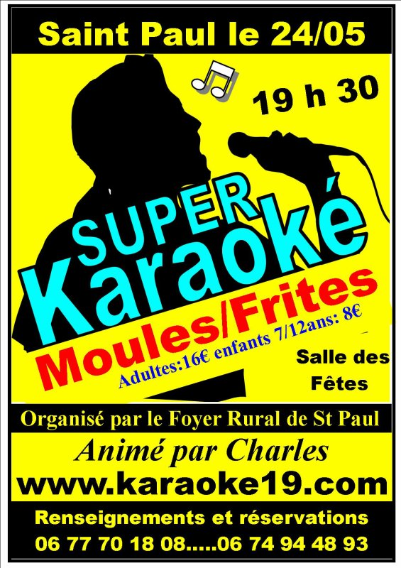 Super Karaoké Moules/Frites A Saint Paul (19150)