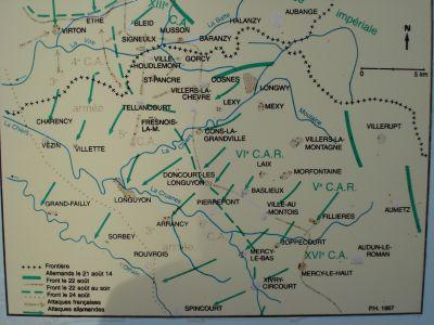 plan des combats au cimetière de ville Houdlémont
