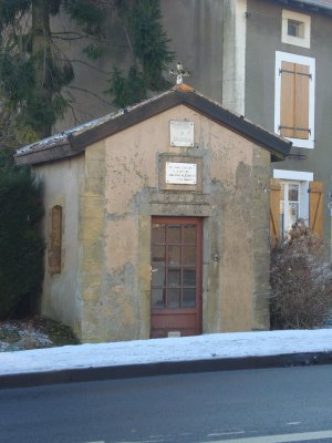 la petite chapelle a Tellancourt où il  fut abattu