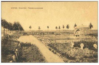 Carte postal Ancienne Cimetiere De VIrton  Tombes Allemandes