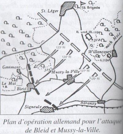 plan d'attaque Bleid et Mussy-la-ville