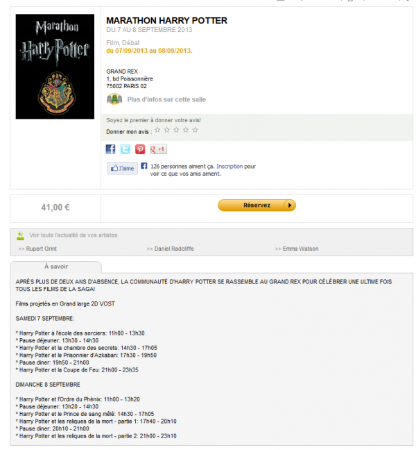 Marathon Harry Potter