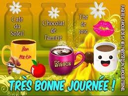 Café du Soleil, Chocolat de l'amitié, Thé de joie... Bon  Après-Midi  Bisous !!
