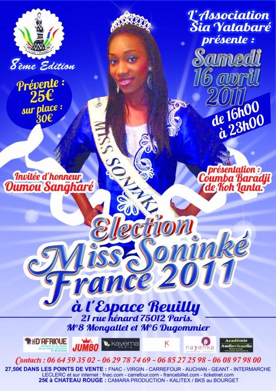 Miss soninké france aura lieu le samedi 16 avril 2011